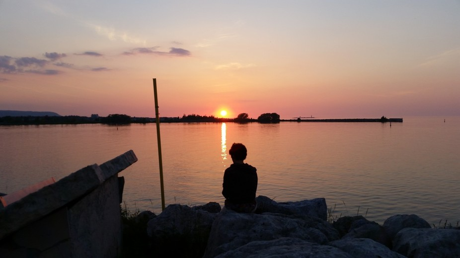 Great sunset Collingwood. My best friend