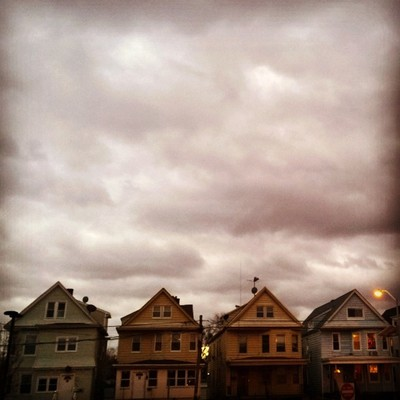 Little houses all in a row