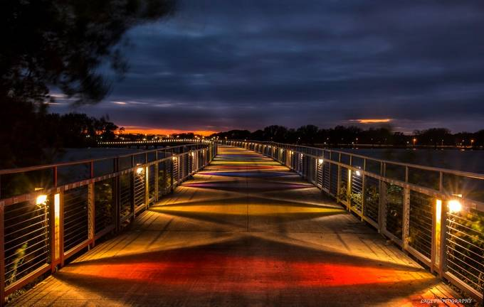 Boardwalk by LAGE - Bridges In The Night Photo Contest