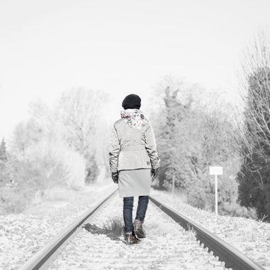 Walking on the rail...