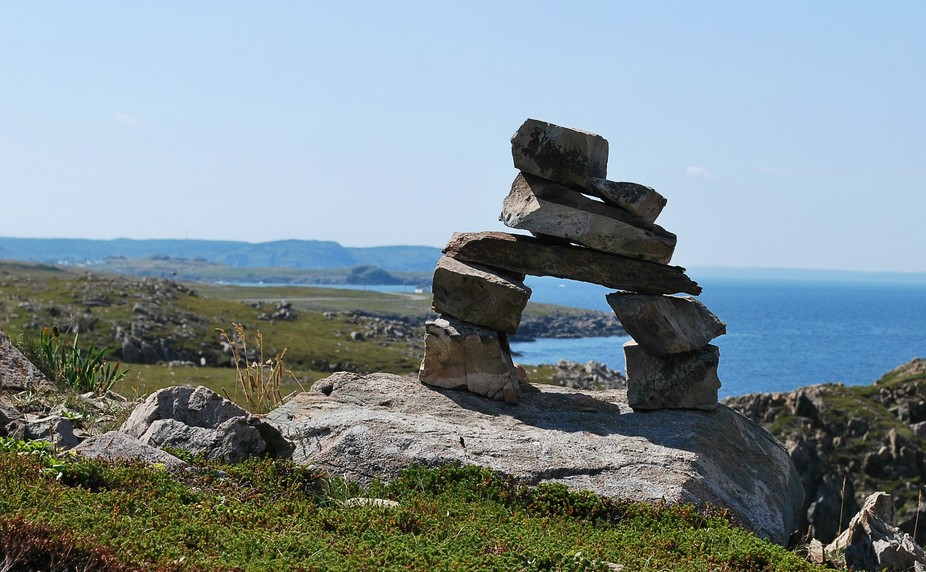 a place near bonavista, nl where people have fun making inukshuks