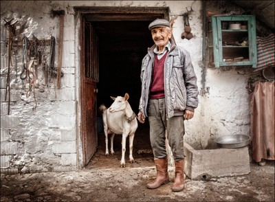 Man and Goat