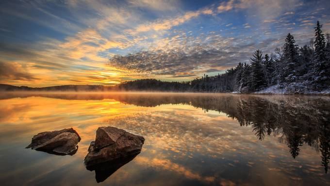 Golden Morning by bminor - Boulders And Rocks Photo Contest