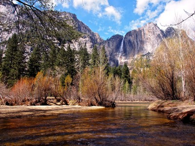 Upper Yosemite Falls and Merced