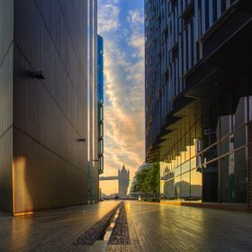 This was shot at around 5.30am last summer, thus the emptiness in what is usually a very busy pedestrian area. I was fortunate that as the sun br...