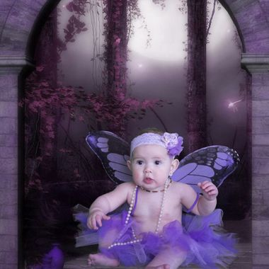 Baby gets a fantasy photo.