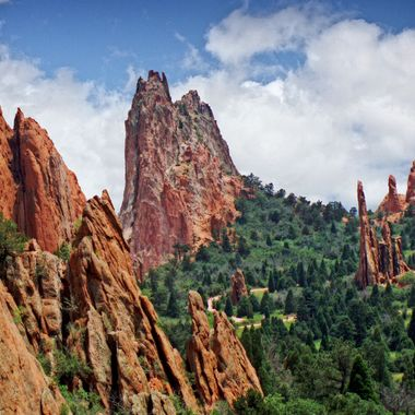 Sandstone rock formation in the Garden of the Gods park, Colorado Springs, Colorado