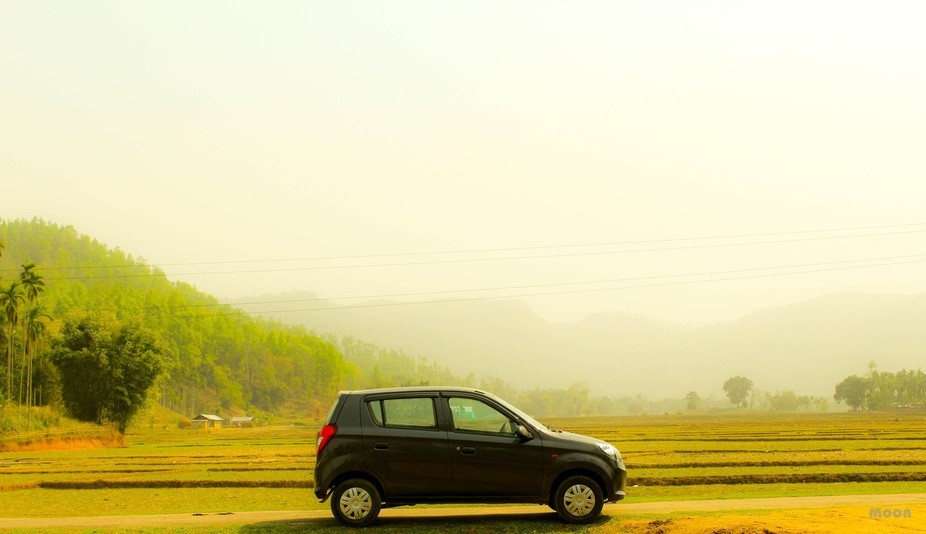Take a road trip and see the Assam from the open road! in Assam,India.