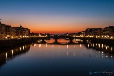 Florence Bridge Sunset