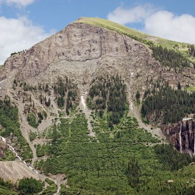 The mountain at the end of the valley where Telluride Colorado sits.