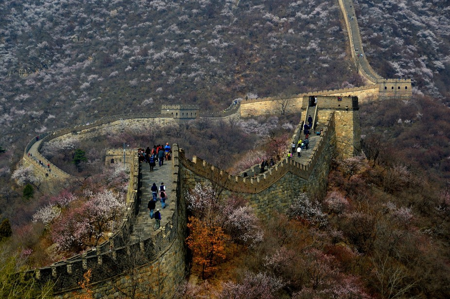 A view of the Great Wall of China, this part of the wall i went to was around 3 or 4 hours away f...