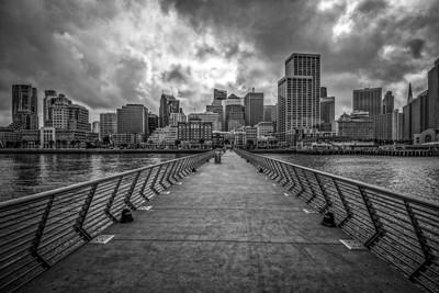 Pier View B&W