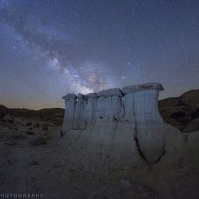 A 3 am milkyway shot from the New Mexico badlands