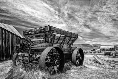 Ore Wagon (Bodie) B&W