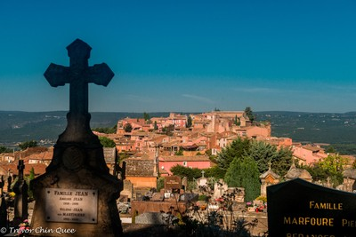Village in the Luberon-View from the cemetery