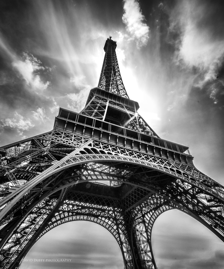 Eiffel Tower  by Davidd25 - A Black And White World Photo Contest