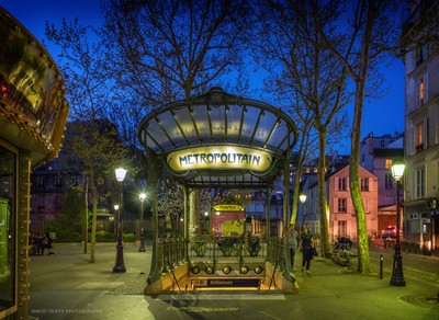 Spring evening, Montmartre, Paris