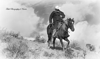 Pony Express Ridge Rider 1 b&w