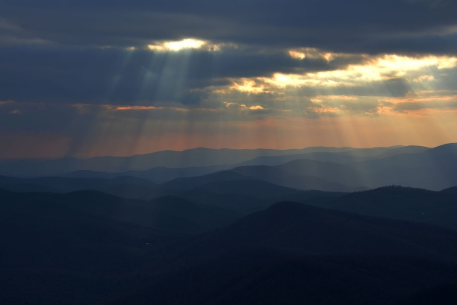 On a hike I captured this shot from the summit of Blood Mountain, the highest peak on the Georgia...