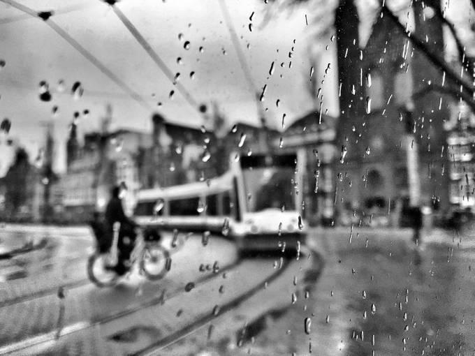 Rain In Amsterdam By RicardasJarmalavicius