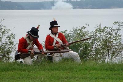 USA. War of 1812 re-enactment