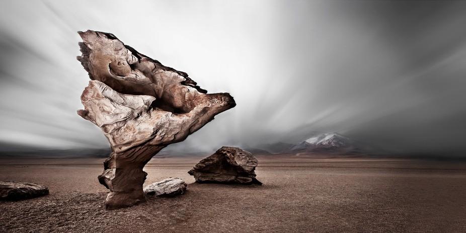 Árbol de Piedra - Salar Uyuni, Bolivia