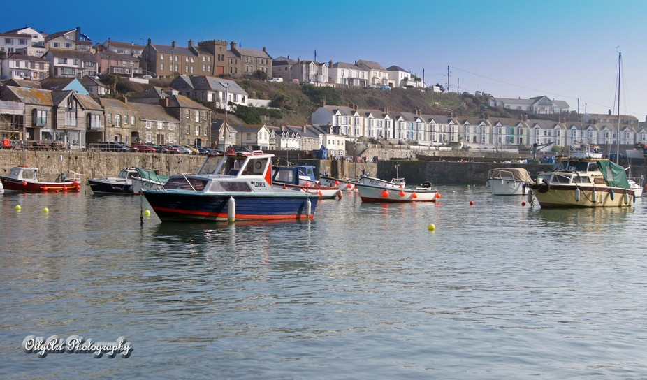 Porthleven Harbour, Cornwall.  The first taste of Spring.