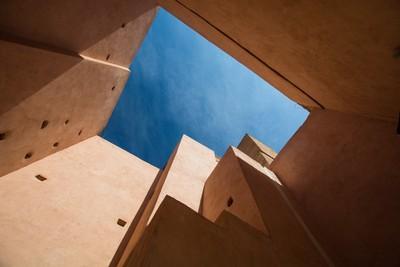 Looking up in Marrakech
