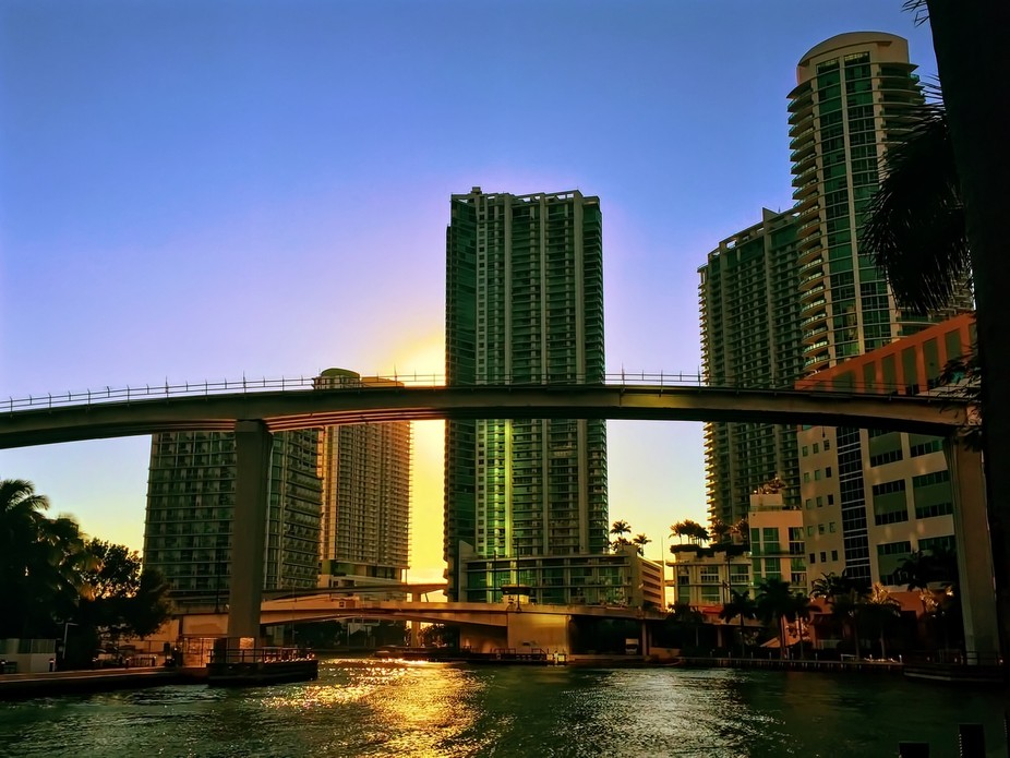Miami River in downtown Miami, FL I took this photo on my iPhone 6+ and processed it with Pixlr f...