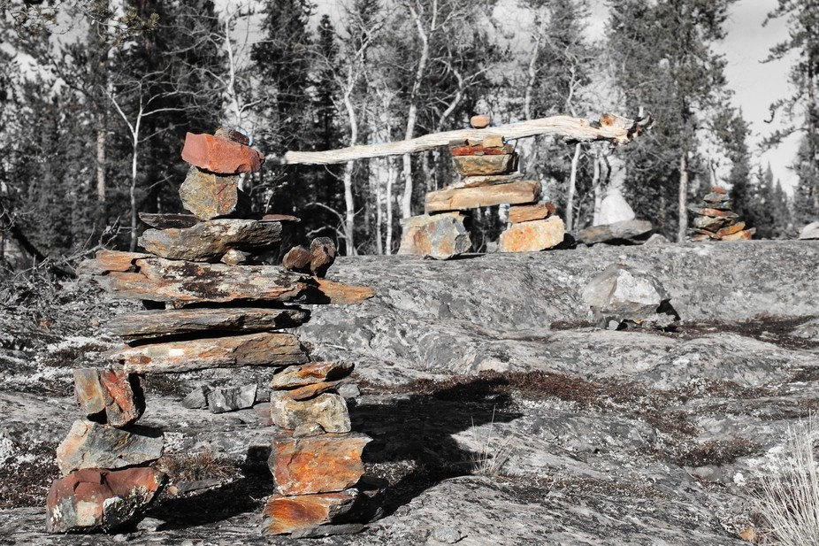I was out hiking and had found a bunch of these inuk shuks.
