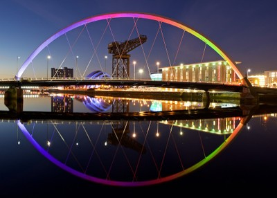 The Clyde Arc at night - Glasgow