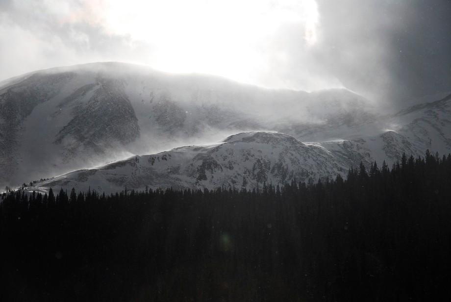 Snowy ridge in the Breckenridge Backcountry.