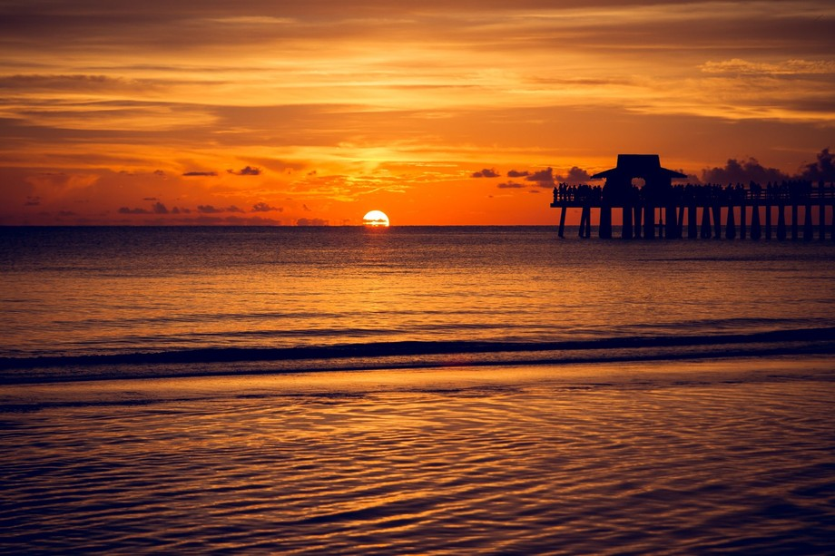 Sunset Pier on the Water