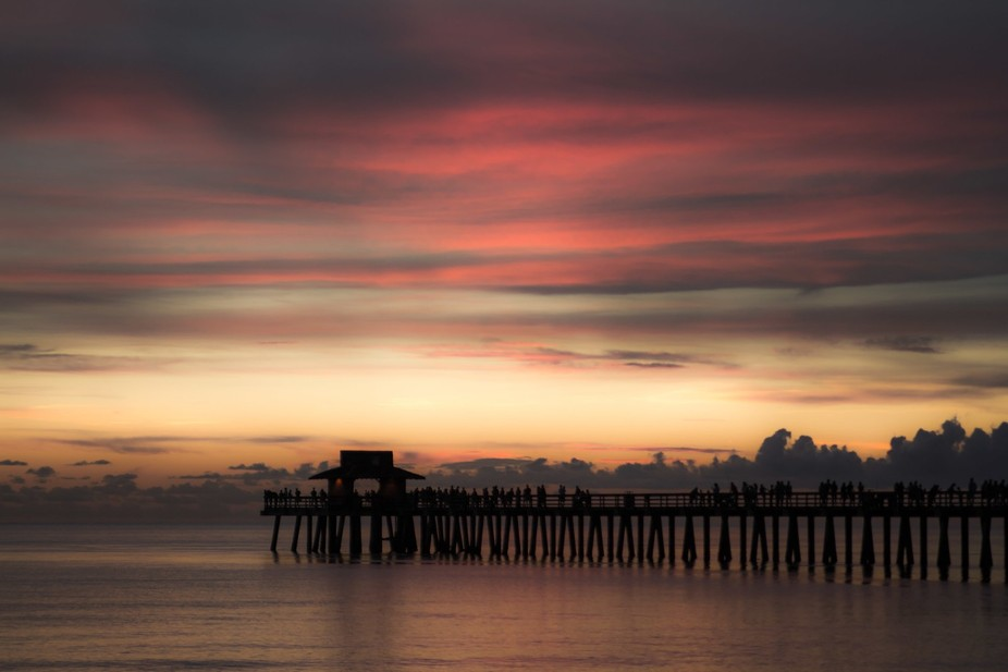 Pier Colored Sunset