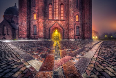 Denmark - Misty paths around Roskilde Cathedral