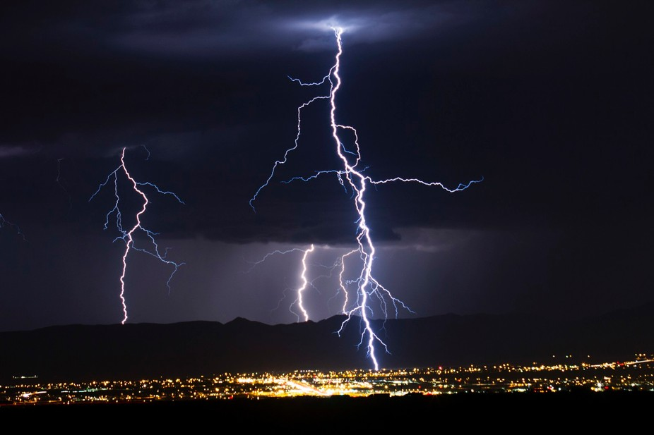Taken during a fantastic storm in southern New Mexico. This was a 30 second exposure.