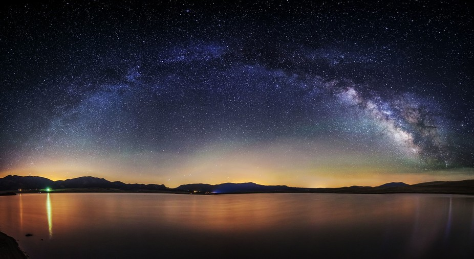 It takes every bit of the 11 mile reservoir to show off the vastness of the Milky Way