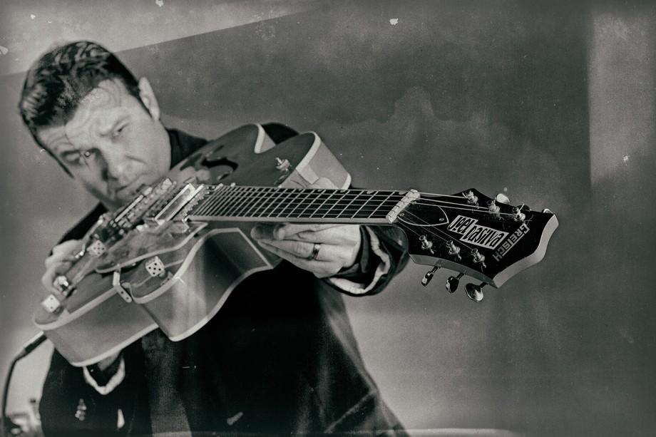 Had Blues Guitar master Joel DaSilva of Joel DaSilva and the might night Howl in to shoot promoti...