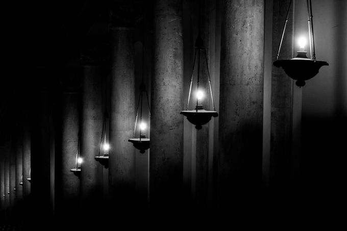 Columns and Shadows by jvcron - Depth In Black And White Photo Contest