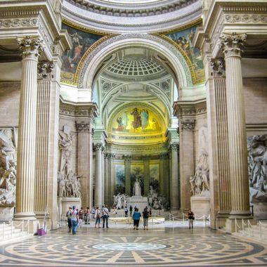 The Pantheon de Paris where many famous Parisians are buried.