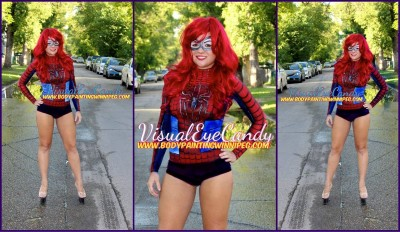 #BodyPainted #Handpainted #airbrushed #spfx #SpiderGirl #MaryJaneWatson #cos