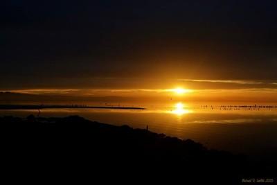 Sun rise over the Salton Sea