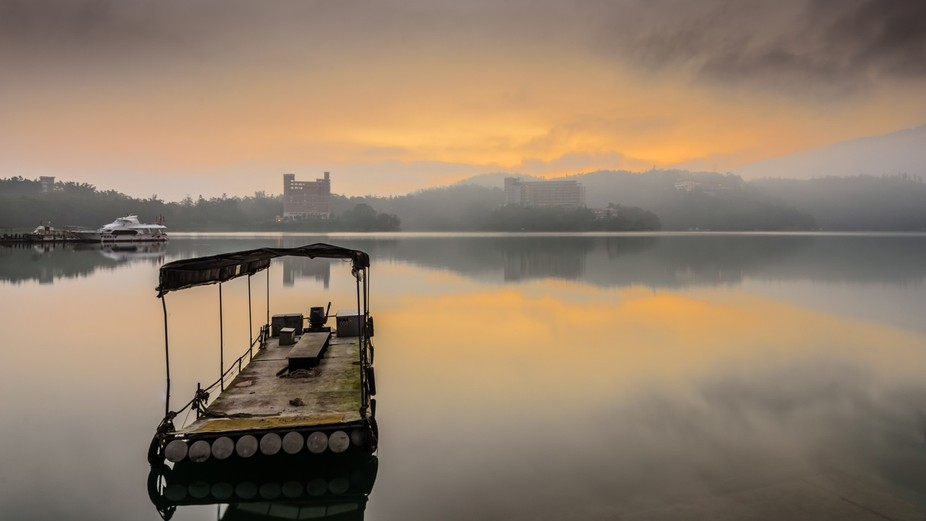 this was shot during early morning hours at Sun moon lake of Nantou district of Taiwan
