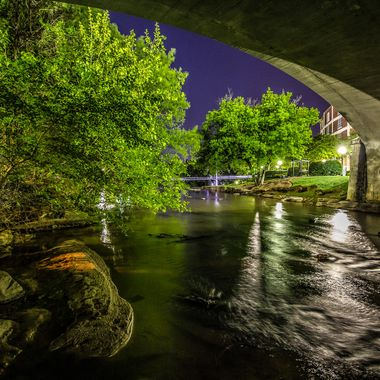 The Reedy River flows through Greenville, SC