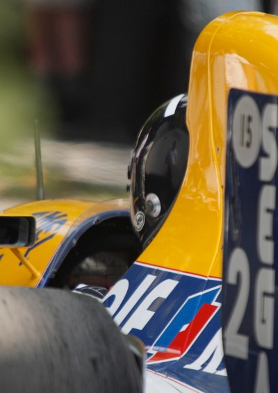 Damon Hill in his Williams