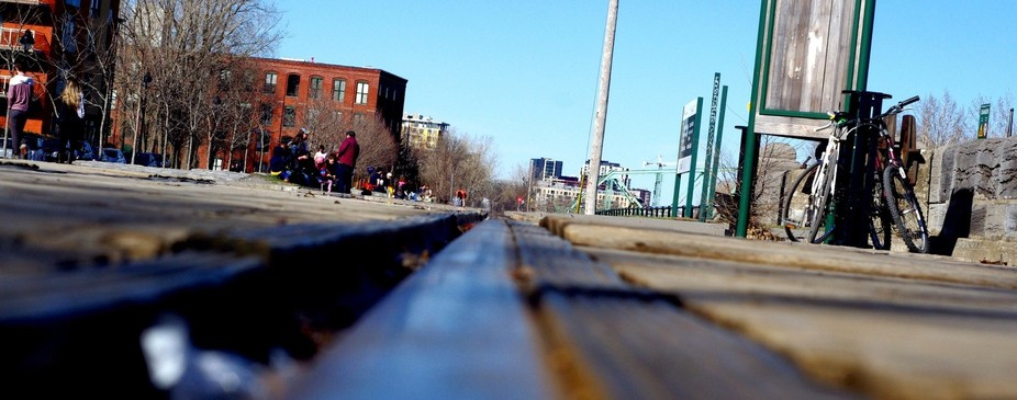 Put my camera on the tracks at the famous Montreal Atwater Market one spring afternoon. This is w...