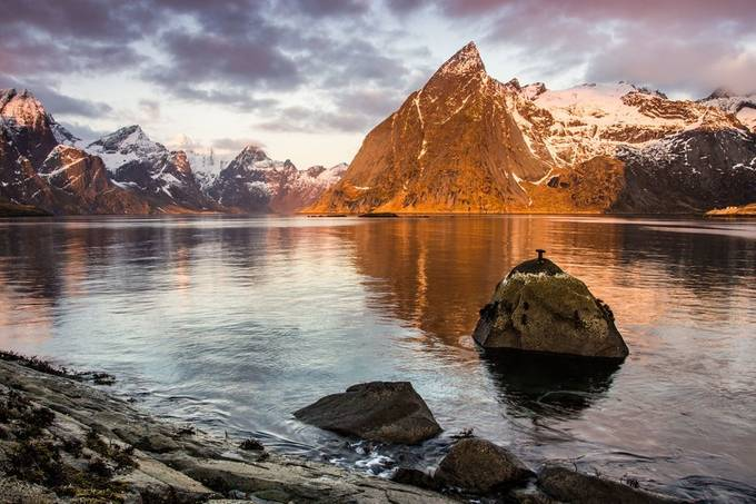 Lofoten Sun Rise by MikeW - The First Light Photo Contest