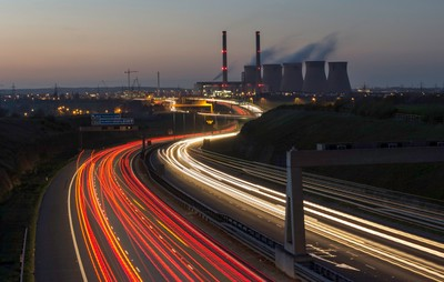 Motorway and the power station