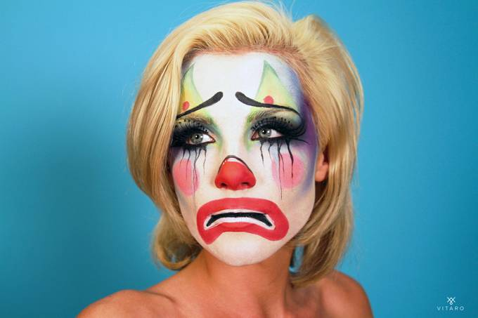 SAD CLOWN by AJVITARO - Paint And Makeup Photo Contest