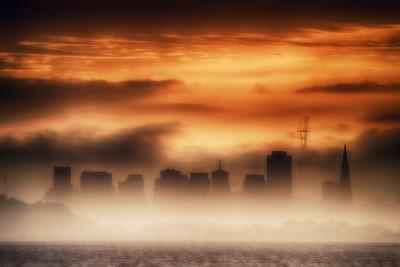 Sunset Over the City of Fog
